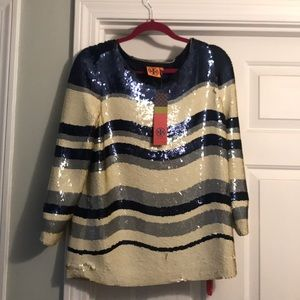 Tory Burch sequined Top